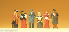 Preiser 12197 Transeúntes en ropa del invierno, um 1900 , H0