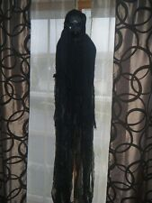 HALLOWEEN SCARY HANGING SCREAMING BLACK GHOST ZOMBIE GHOUL LIGHTS - BLUE NO BODY