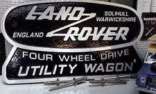 LAND Rover Defender OEM CAST vasca Utility CARRO BADGE VAN PICK-UP 90 110 td5 TDCi