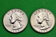 1993 P & D  BU Mint State Washington US Quarters  ( 2 Coins )