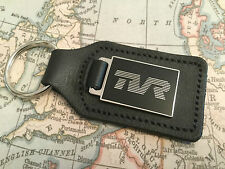 TVR KEY RING ATTACHED TO BLACK LEATHER ENAMELLED Griffith S2 3 4 Cerbera Tuscan