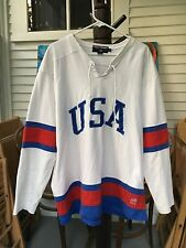Polo Ralph Lauren USA Jersey Sport 90s Spell Out Flag Rare Shirt Olympics Bear