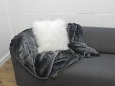 FAUX MONGOLIAN FUR CUSHION COVER WITH FAUX SUEDE BACK 45X45cms
