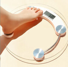 400lb 180KG Bathroom Digital Electronic Glass Weighing Body Weight Scale Round