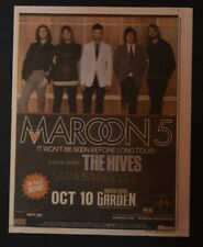 Maroon 5 2007 Color 11x14 Concert Ad Adam Levine It Won't Be Soon Before Long Ny