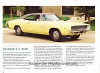 1968 Dodge Charger RT R/T Hemi - Original Car Print Article J265