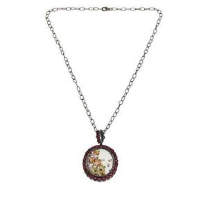 Rarities Multicolored Tourmaline Shaker And Ruby Pendant With Chain Hsn $300 Out