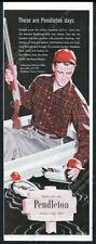 1956 Pendleton men's Yellowstone Western Plaid shirt duck decoy vintage print ad