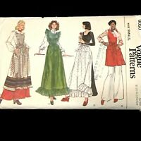 Vogue Pattern 9050 Aprons Pinafore Small 8-10 Sewing Costume Prairie Uncut