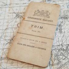 BOER WAR 1902 TRIM BARRACKS MAP BRITISH ARMY VINTAGE ORDNANCE SURVEY OS MILITARY