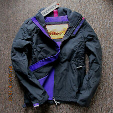 Superdry Womens Jacket  coat fleeced Polar Windhiker Grey Size S GENUINE