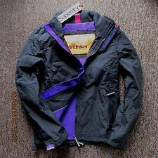 Superdry Womens Jacket  coat fleeced Polar Windhiker Grey Size S GENUINE