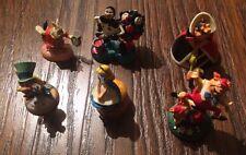 Rare Disney's Tiny Kingdom 6 Alice In Wonderland Ceramic Figures