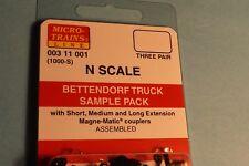 N Scale Micro-Train Couplers  BETTENDORF SAMPLE PACK # 003 11 001