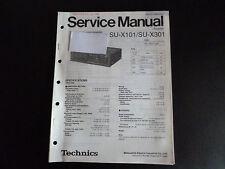 Original Service Manual  Technics Stereo Integrated Receiver SU-X101 SU-301
