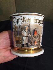 Antique Occupational Shaving Mug Bread Maker Baker Barber Shop