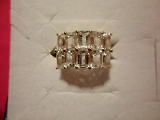 Cullinan Diamond Topaz Cluster Ring in YG Over Sterling Silver-Size 7-7.20 Carat