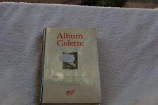 ALBUM COLETTE  BIBLIOTHEQUE DE LA PLEIADE