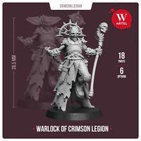 Warlock of Crimson Legion- Artel W- Traitor Imperial Guard Chaos Sorcerer