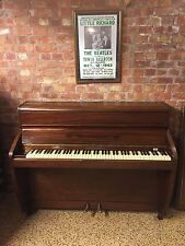 Challen British Made Modern Upright Piano Mahogany Art Deco BEATLES Hey Jude