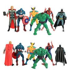 6 set Marvel DC Movie Avengers super hero Action Figures HULK IRON MAN SPIDERMAN