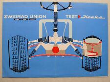 """Prospekt / Test aus """"hobby"""" - Zweirad Union Kraka, ca.1963, 4 Seiten, selten"""