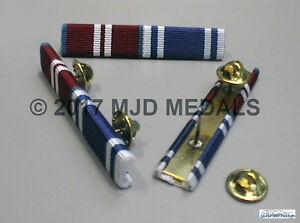 DIAMOND JUBILEE MEDAL + POLICE LONG SERVICE & GOOD CONDUCT MEDAL RIBBON BAR