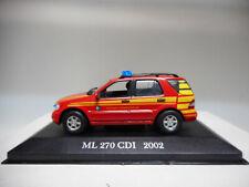 MERCEDES-BENZ ML 270 CDI 2002 FIRE MERCEDES DeAGOSTINI IXO 1:43