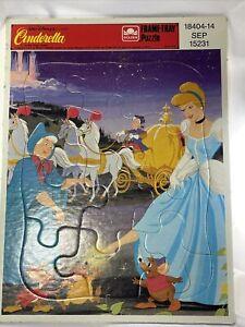Vintage Walt Disney Classic Cinderella 18404-14 Golden Frame Tray Puzzle 15231