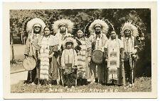 RPPC ND North Dakota Mandan Sioux Indians in Full Regalia