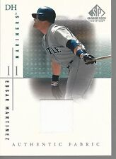 2001 SP Game Used Edition Authentic Fabric #EM Edgar Martinez