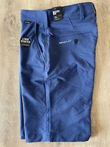 Boys Youth Hurley Nike Shorts Size 12 Blue Golf Shorts NWT!