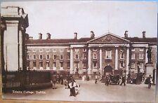 Irish Postcard TRINITY COLLEGE Dublin Ireland CTC Irish Tourist Assn Sepia 1947