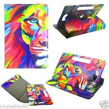 Housse Etui Tablette Acer Universelle Rotative 360 ° - 7 Pouces - Motif Lion