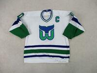 VINTAGE CCM Ron Francis Hartford Whalers Hockey Jersey Adult Medium SEWN Men 90s