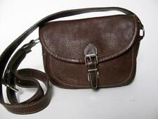 ROOTS CANADA PEBBLED BROWN LEATHER MESSENGER CROSSBODY MEDIUM PURSE BAG TOTE