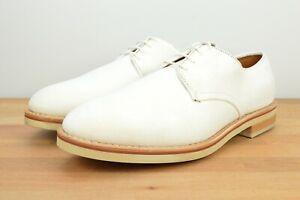 NEW Allen Edmonds Nomad Buck Suede Derby White Size 9 D Luxury Dress Shoe