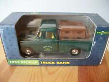 NIB ERTL 1/25 JOHN DEERE 1955 PICKUP TRUCK BANK MIDLAND IMPLEMENT ADVERTISMENT