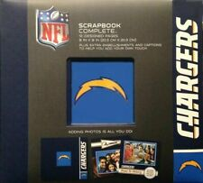 """BRAND NEW SAN DIEGO CHARGERS  8"""" x 8"""" Complete Scrapbook Kit Expandable NFL"""