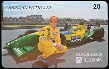 1995 CHRISTIAN FITTIPALDI PHONE CARD - 20 UNITS By Telebras - Brazilian Racing