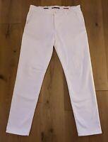 Alberto Herren Jeanshose Cosy Pants Regulor Slim Fit 100%Baumwolle W34/L32 Weiß