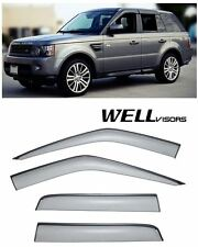 For 06-13 Range Rover Sport WellVisors Side Window Visors W/ Black Trim
