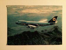 Old Lufthansa Boeing Jet 747 Postcard ~ In Flight