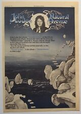JOHN LODGE 1977 vintage POSTER ADVERT NATURAL AVENUE the moody blues Blue Jays