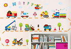 Truck Helicopter bus Police Car Ambulance Wall sticker decals kids nursery decor