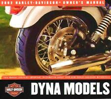 2002 HARLEY-DAVIDSON DYNA OWNERS MANUAL -DYNA-FXD FXDL FXDX FXDXT FXDWG-DYNA