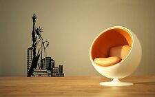 Wall Sticker Vinyl Decal Statue of Liberty New York USA Tourism ig1258