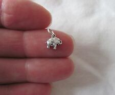 Small Sterling Silver Elephant miniature charm.