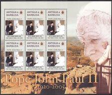 Antigua 2005 Pope John Paul II/People/Religion/People/Popes 6v m/s (n40154)
