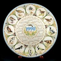 Wedgwood - Calendar Plate - Waders - 1990 - New Conditon
